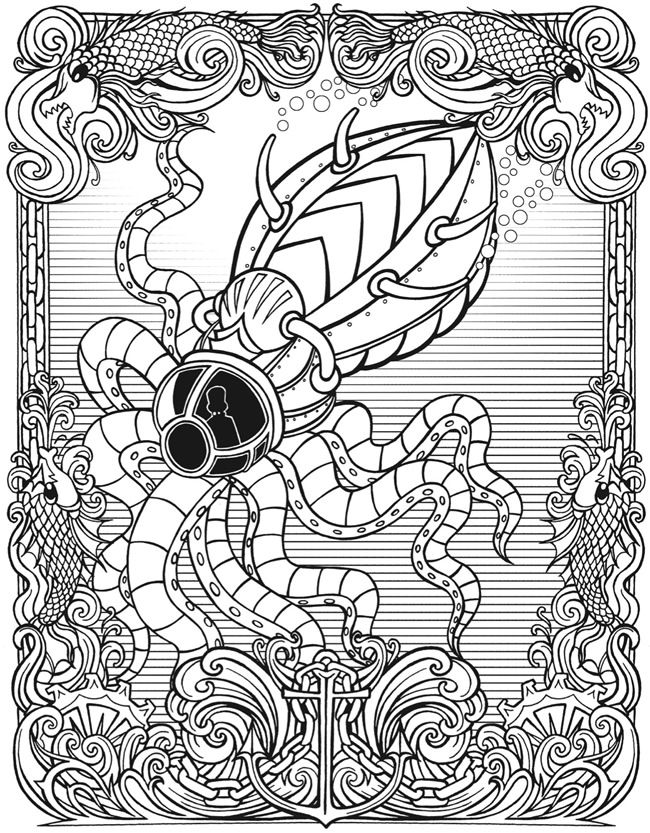 Free Steampunk Coloring Pages