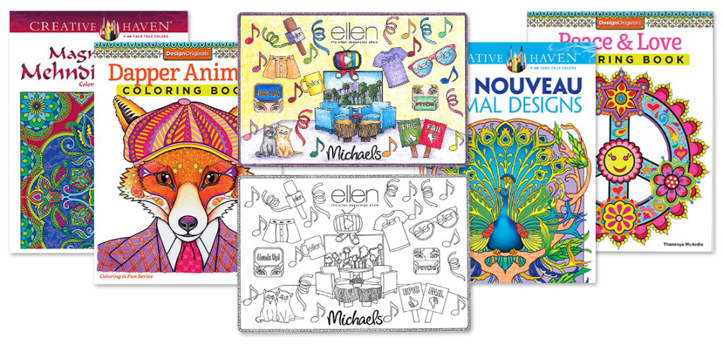Simply inspired coloring for adults page 3 Coloring books for adults michaels